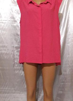 Малиновая блуза с удлиненной спинкой1 фото