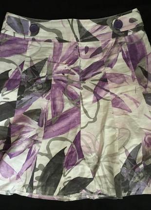 Стильная юбка с цветочным принтом yessica