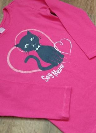 Big sale! новый реглан лонгслив кошка dopo dopo на 3-4 года