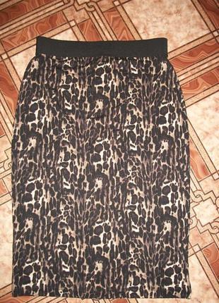 Трикотажная юбка- карандаш