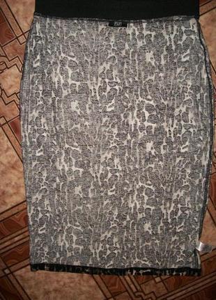 Трикотажная юбка- карандаш4 фото