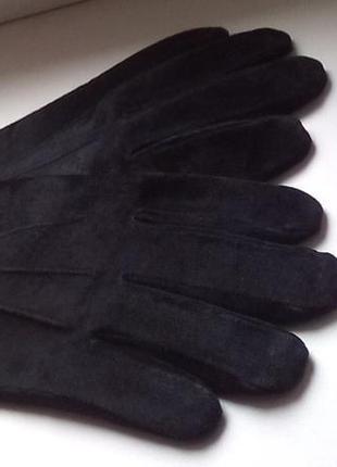 Замшевые перчатки.l-xl.отл.сост.англия.