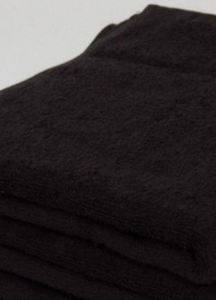Полотенце махровое черное 30 х50