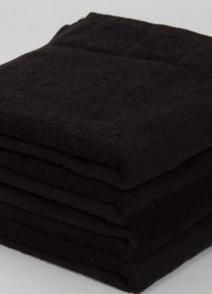 Полотенце махровое черное 50х 90