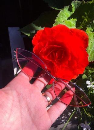 Очки розовые