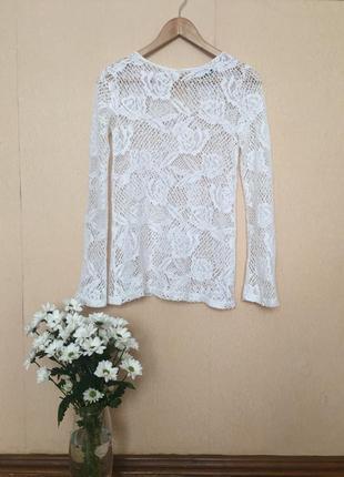 Шикарная белоснежная нежная блузка от topshop
