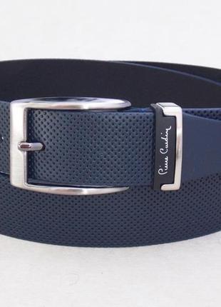 Классический мужской кожаный ремень pierre cardin синий 380d34b40f9f1