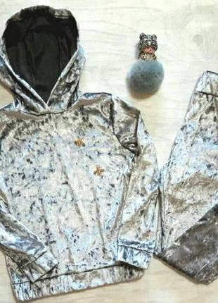 Шикарный спортивный костюм из мраморного велюра , размеры 122-134