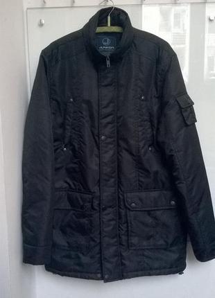 Мужской черный пуховик куртка