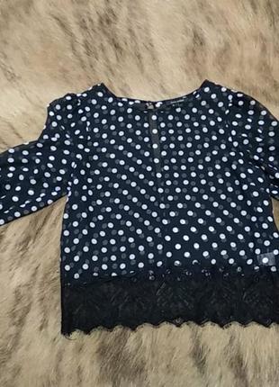 Прекрасна горохова блуза