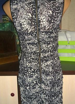 Платье футляр с драпировкой из шифона h&m2 фото