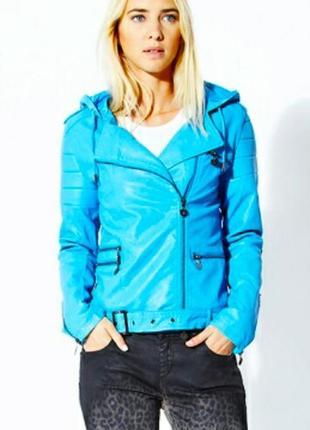 Кожаная куртка косуха итальянского бренда twin set