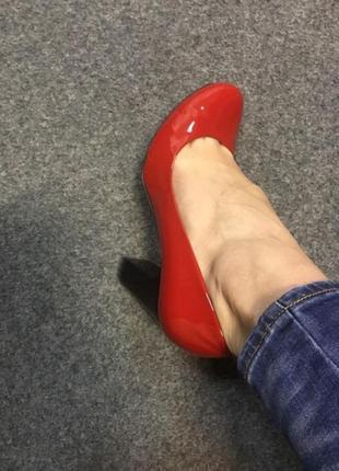 Туфли кожа лак 38