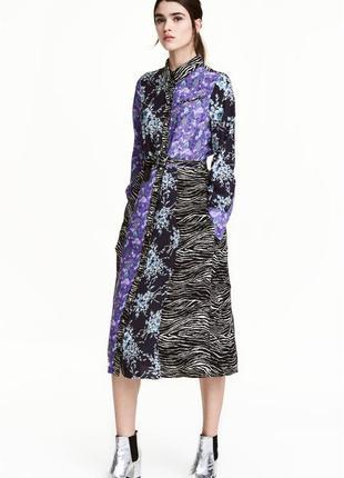 Платье h&m миди цветочный принт вискоза2 фото