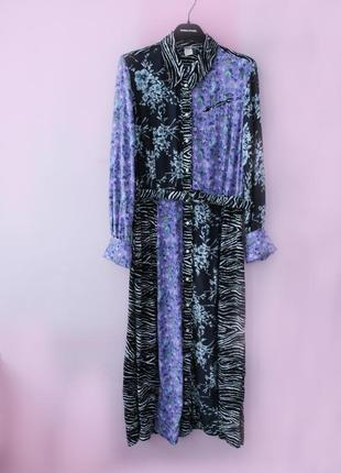Платье h&m миди цветочный принт вискоза3 фото