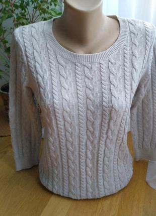 Пуловер косы от h&m в составе альпака