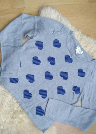 Пуловер в сердечки от next