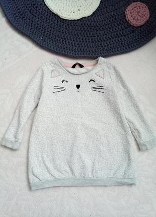 Платье котик, платьеце на баечке, теплое