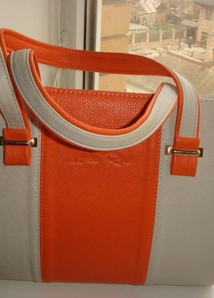 Яркая летняя каркасная сумочка, новая, кожзам