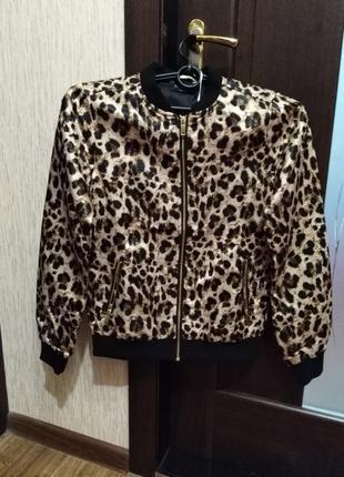 Новый бомбер esmara, леопардовый