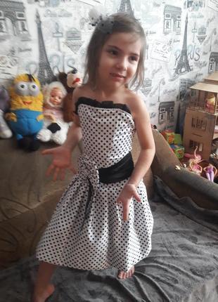Бальное выпускное ретро платье, корсет, от 5 до 8 лет, 110-120