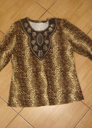 Трикотажная блузка, размер 50-52 примерно