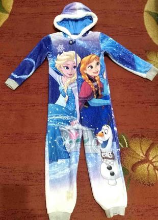 Кигуруми, пижама с эльзой на 7-8 лет