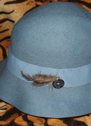 "Супер шляпа""фетр"",100%шерсть,лондон""radley"",58см."