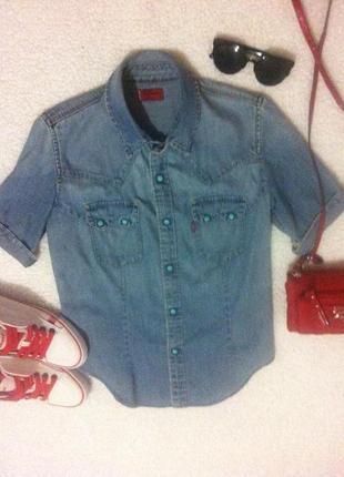 Джинсовая рубашечка levi's оригинал в идеальном состоянии