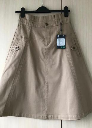 Джинсовая юбка-восьмиклинка massimo dutti, m