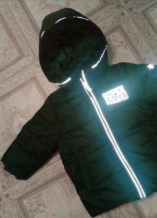Зимняя куртка фирмы h&m 1,5-2,5 года