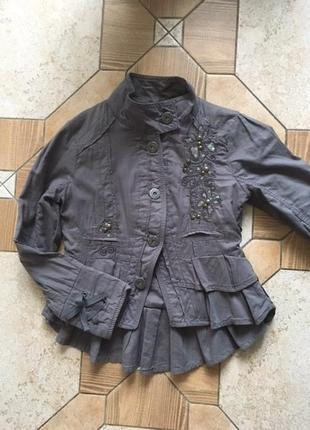 Супер стильный пиджак next на 4-5 лет