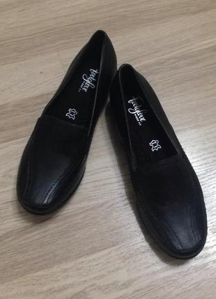 Кожаные комфортные туфли footglove, новые!