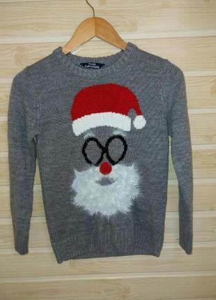 Фирменный новогодний свитшот свитер 10-11л age