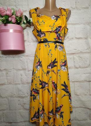 Платье миди широкая юбка р 16