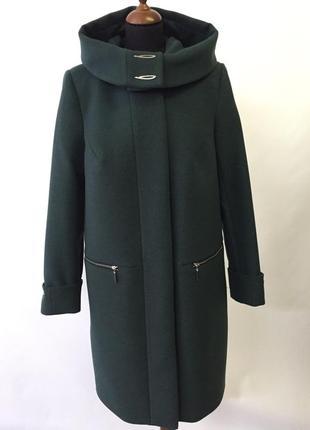 Скидка! демисезонное кашемировое пальто 50-62р зеленое, бежевое кэмел батал