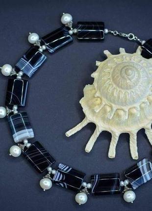 """Дизайнерское ожерелье """"млечный путь"""""""