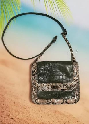 Модная сумочка, змеиный принт, рептилия