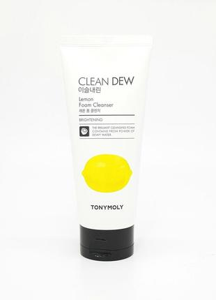 Пенка для умывания лимон tony moly clean dew foam cleanser