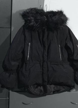 Дутая куртка с мехом укорочённая