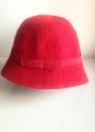 Женская шляпа котелок с полями h&m на зиму и осень шерстяная шапка