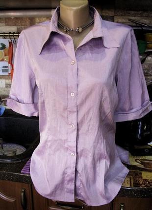 Нежно сиреневая стрейчевая блузка