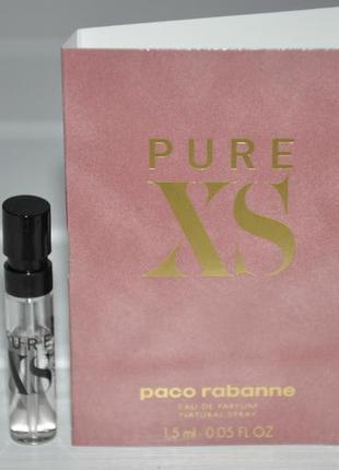 Paco rabanne pure xs eau de parfum for her (пробник)