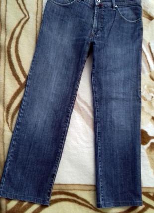 Pierre cardin! мужские модные потертые темно серые джинсы, размер w34  l 34, будут на л2