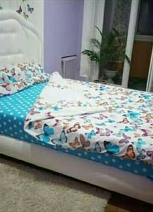 Красивый постельный набор, интересное сочитание принта, 2-спалка, евро в наличии