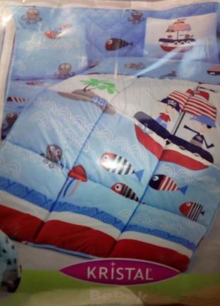 Набор для новорожденных korsan mavi,детский набор в кроватку  с защитой