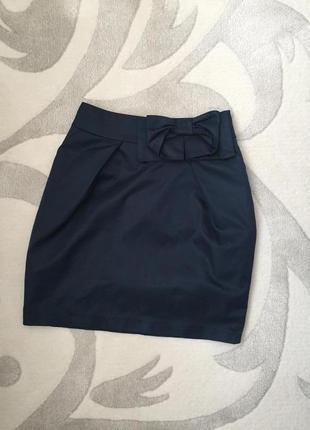 Школьная юбка юбочка с бантиком 9-10 лет