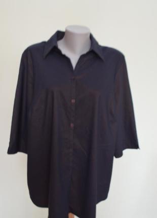 Очень классная стрейчевая блуза рубашка большого24 размера