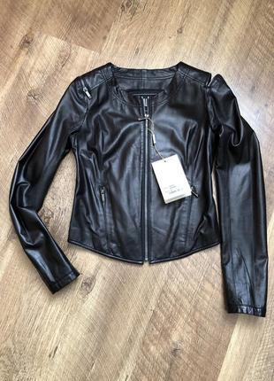 Кожаная рубашка, куртка massimo dutti uterqua