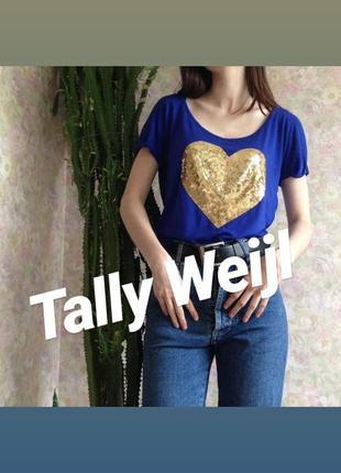 💣 красивая футболка с сердечком из паеток